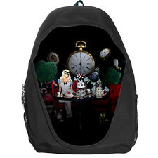 Alice in Wonderland Tea Party Digital Collage Backpack Rucksack School Bag