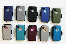 New Otterbox iPhone 4 4S Defender Series Case Cover Holster Belt Clip