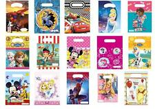 Pack of 6 Childrens Party LOOT BAGS Birthday Disney Themes Girls Boys party