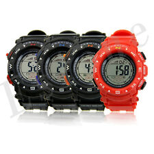 Sale Men's Stopwatch LED Backlight Sport Digital Light Silicone Wrist Watch Hot