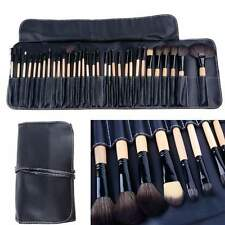 Hot 32 PCS Makeup Brush Set Cosmetic Pencil Lip Liner Make Up Kit Holder Bag