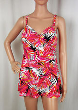 NEW Real Bodies One-Piece Bathing Suit Wrap Swimdress Underwire Swimsuit Size 10