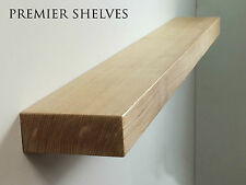 SOLID OAK FLOATING SHELF FIREPLACE MANTEL MANTLE BEAM WALL SHELVES 6 x 2.5 INCH