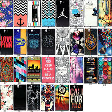 New Design Pattern Hard PC Back Case Cover For Sony Xperia Various Models