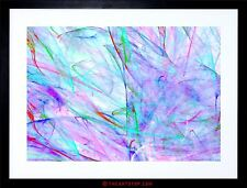 PAINTING UNDER SEA ABSTRACT IMPRESSION COLOURFUL FRAMED PRINT F12X7371