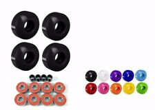 Blank 52mm Skateboard Wheels Multi Color Brand New Sealed with Bearings + spacer