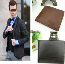 1Pcs Fashion Genuine Leather Wallet Leather Wallets PVC Card Holder Wallet
