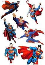 7 SUPERMAN Matt Gloss T-SHIRT Acqua Transfer Temporary Tattoo Adesivo