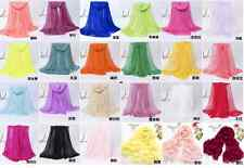 The New Solid Color Scarves Oversized Beach Shawl Scarf Chiffon Scarf Sunscreen