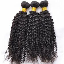 LUXE kinky curly profonde cheveux humains vierges cambodgien 6A tissage trame 3/4 / 5 faisceaux
