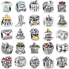 Hot Cute Fashion Beads Fit European Charms 925 Silver Sterling Bracelets Chain