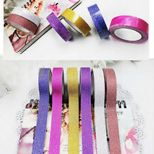 5m Craft Glitter Washi Tape Book Decor DIY Scrapbooking Adhesive Paper Sticker R