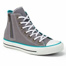 Converse All Star Side-Zip High-Top Grey/Teal Women's Sneakers-Size 6/8/10
