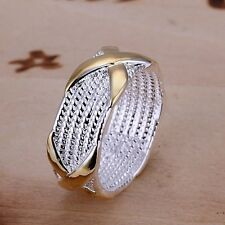 Men Women Retro  Fashion Jewelry  Men Ring 925 Sterling Silver Plated Ring