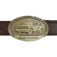 Wrecker Truck Personalized Buckle and Belt OBM151PB IMC-Retail