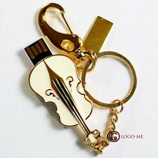 Waterproof Violin USB Flash Memory Pen Drive 1 2 4 8GB 16 GB Thumb Stick Storage