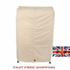 3ft CLOTHES GARMENT RAIL COVER Cream in 100% BREATHABLE COTTON 1482