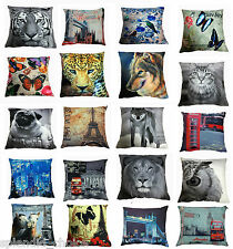 "Luxury Chenille Digital Print Modern Cushion Covers  Designs-18""x18"""