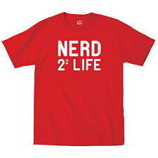 Nerd 2^2 (Four) Life Funny Party Chemistry Geek College Math Humor Mens T-Shirt
