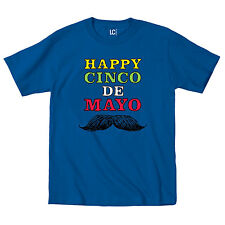 Happy Cinco De Mayo Mustache Mexican Holiday Celebration Funny - Mens T-Shirt