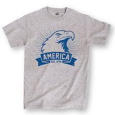 Bald Eagle America Est. 1776 USA Patriotic Merica 4th of July Novelty Mens Shirt