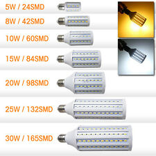 E27 5630 24 42 60 SMD LED Corn Bulb CREE Power lamp super bright white 110V