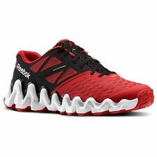 Reebok Mens Zig Tech Big N Tough Running Shoes Sneakers New Red Black White