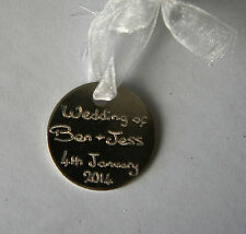 WEDDING FAVOUR HAND ENGRAVED PERSONALISED GIFT TAGS  ANNIVERSARY GIFT TAGS