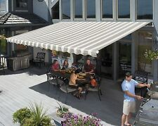 14' SunSetter Motorized Awning in Acrylic Fabric by SunSetter Awnings