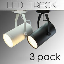 3PK LED Track Railing Ceiling Spotlight SPOT Shop Display LIGHT 3 7 12 18 Watt !