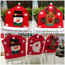 Santa Claus Elk Snowman Christmas Decoration Home Kitchen Chair Covers Fashion