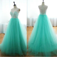 Sexy Evening Party Ball Prom Gown Formal Wedding Bridesmaid Cocktail Lace Dress