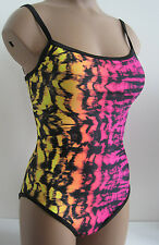New TYR HB Mojave Tie Dye One Piece Swimsuit Pink Me Up Size Small, Medium $66