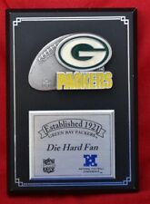 "CLASSY! Established 1921 Green Bay Packers ""DIE HARD FAN"" Wall Plaque"