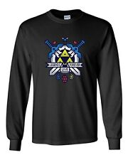 Long Sleeve Adult T-Shirt Hit Restart Game Swords Video Game Gamer Nerd Geek DT