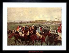 PAINTING DEGAS RIDERS BEFORE START OLD MASTER FRAMED PICTURE ART PRINT F97X8412