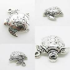 Sea marine TURTLE 925 Sterling Silver Charm Pendant w Spacer / Bracelet or Chain