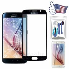 for Samsung Galaxy S6 Front Outer Screen Lens Glass Replacement Repair Kit Black
