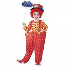 Boys Hoop Clown Circus Fancy Dress Costume Childs Kids World Book Day Outfit