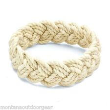 Sailor Knot Turks Head Knotted Surfer Beach Rope Bracelet Beige Nautical