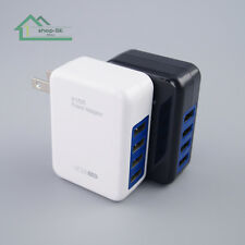4 Port USB Power Adapter AC Wall Charger US Plug FOR iPhone 5 5S 6 iPod Samsung