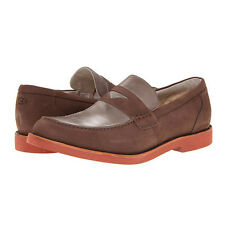 UGG Autralia Barren Mens Casual Loafer Slip On Shoes Brown Nubuck Leather NEW