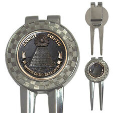 The Illuminati Eye Annuit Coeptis Masonic Mason - 3-in-1 Golf Divot Tools Rare!