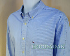 Large  NWT Tommy Hilfiger Men's Custom Fit shirts Button Down & Pink stripe