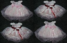 Baby Girls Christening Bridesmaid Party Satin Rosebud Wedding Pageant Dress NEW