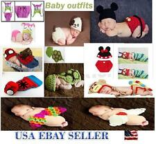 Newborn Baby  Knit Crochet Handmade Costume Photography Outfits -Suits