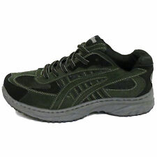 MENS Black GYM Green LACE-UP Sports TRAINER Pump PLIMSOLL Flat Shoe UK Size 7-12