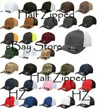 15 Flexfit Trucker Cap Fitted Mesh Baseball Hats 6511 One Size Hat WHOLESALE
