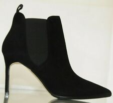 NEW MANOLO BLAHNIK Tungade 90 Black Suede Ankle BOOTS SHOES Heels 34.5 35.5 37