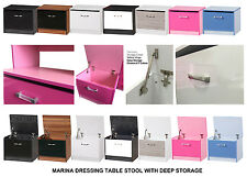 NEW High Gloss Dressing Table Stool Ottoman Deep Storage Chest Bedding Toy Box